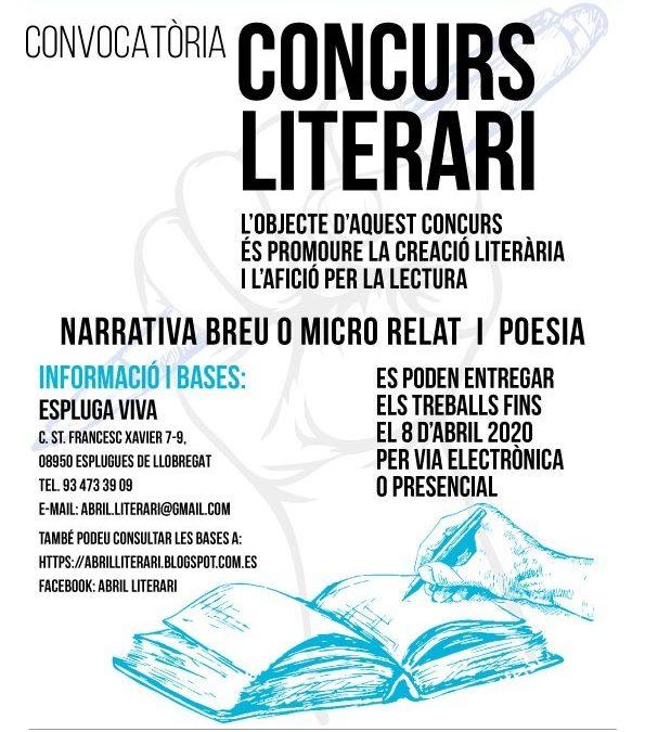 Convocatòria Concurs literari