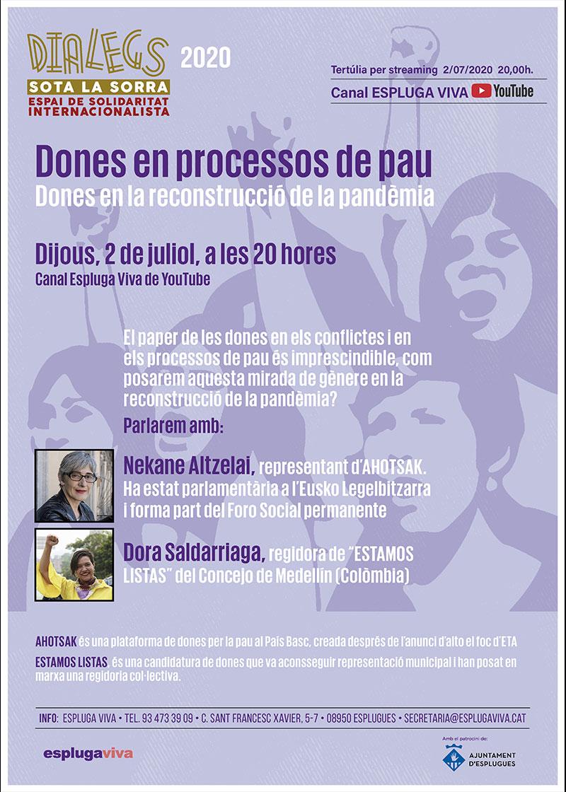 DIALEGS 2020, Dones en processos de pau