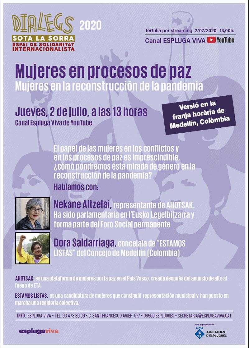 DIALEGS 2020, Mujeres en procesos de paz