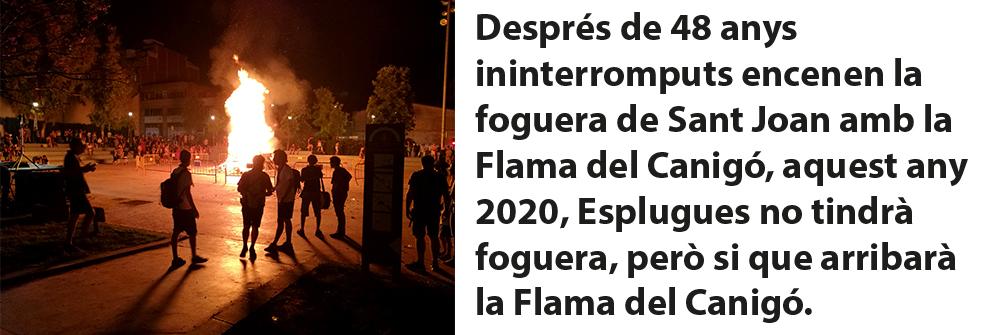 SANT JOAN 2020 -FLAMA DEL CANIGÓ