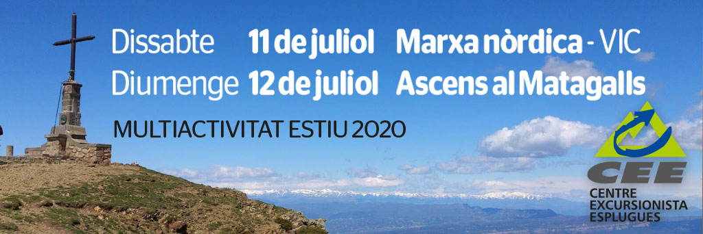 MULTIACTIVITAT ESTIU 2020. 11 i 12 de juliol