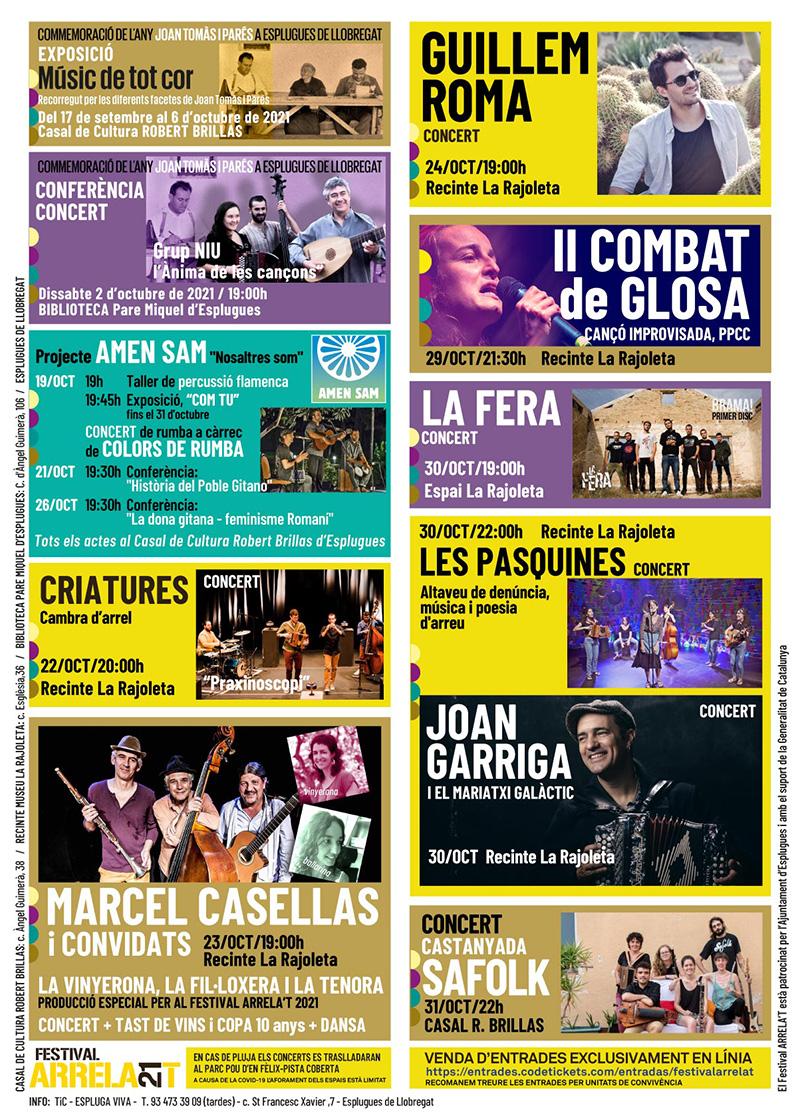 FESTIVAL ARRELA'T 2021_programa